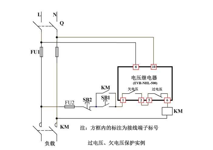 一、工作原理 1、EVR-N系列(无辅助工作电源): 当检测的电压大于过电压设定值并且持续时间超过过电压设定的延时时间时,过电压输出继电器吸合,当检测电压低于过电压设定值输出继电器释放。欠电压及失压输出类型为同一个继电器,当检测电压大于欠电压设定值时输出继电器吸合,当检测电压低于欠电压设定值或失压,且持续时间超过欠电压延时设定时间时,输出继电器释放。 2、EVR-A系列(有辅助工作电源):工作于自动复位方式时,输出继电器的通断和被测电压变化的关系如下图所示,BC段表示过电压保护区,过电压继电器动作,OA、