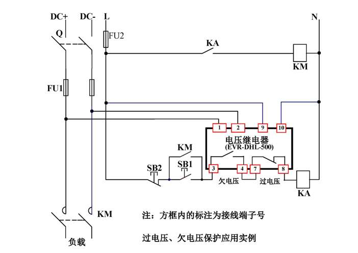 直流电压继电器  工作电源和被测电压隔离
