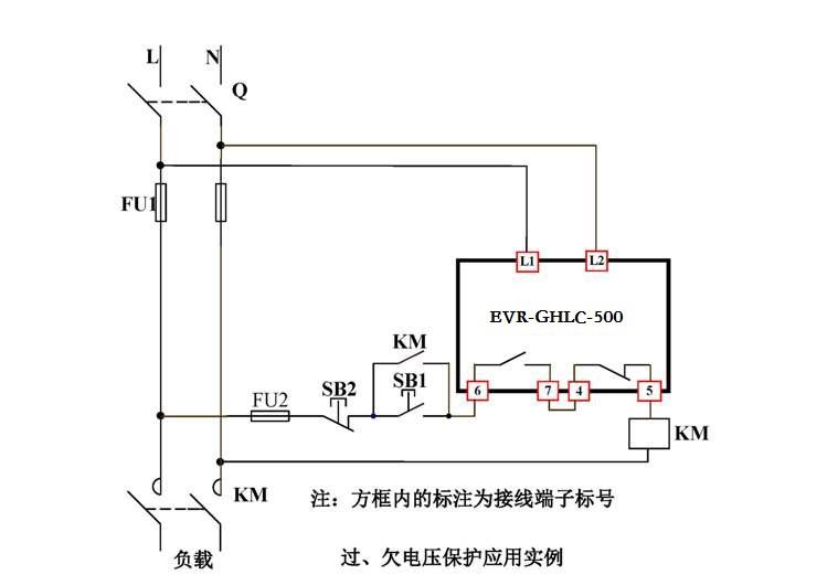 (2)欠电压失压工作原理:欠电压及失压输出类型为同一个继电器。电压正常时,欠电压继电器吸合。当检测电压低于欠电压设定值或失压时,且持续时间超过欠电压延时设定时间,输出继电器释放;当检测电压大于欠电压设定值时且工作于自动复位方式时,输出继电器立即吸合。