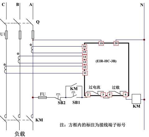> 产品中心 >> 三相电流继电器/监控器  二,工作原理 ●过载:电流正常